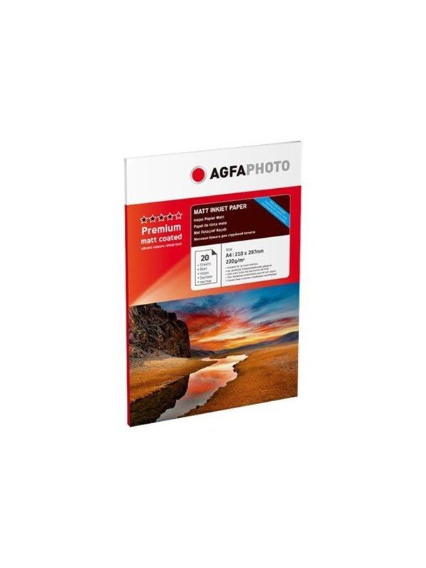 Image of   Agfa Photo - photo paper - 20 sheet(s) - A4 - 220 g/m²
