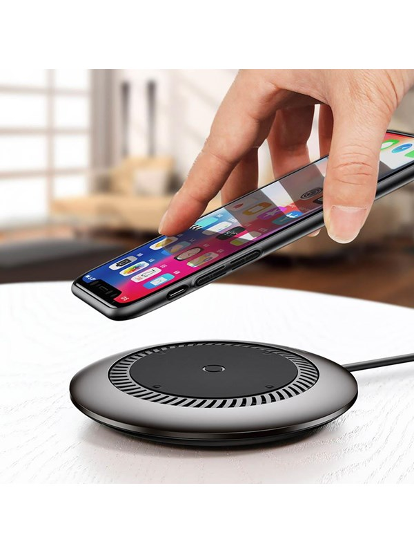 Image of   Baseus Whirlwind Wireless Quick Charger for Smartphones with QI - Black