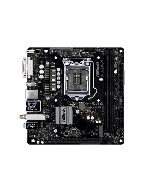 Image of   ASRock H310CM-ITX/ac - motherboard - mini ITX - LGA1151 Socket - H310 Bundkort - Intel H310 - Intel LGA1151 socket - DDR4 RAM - Mini-ITX