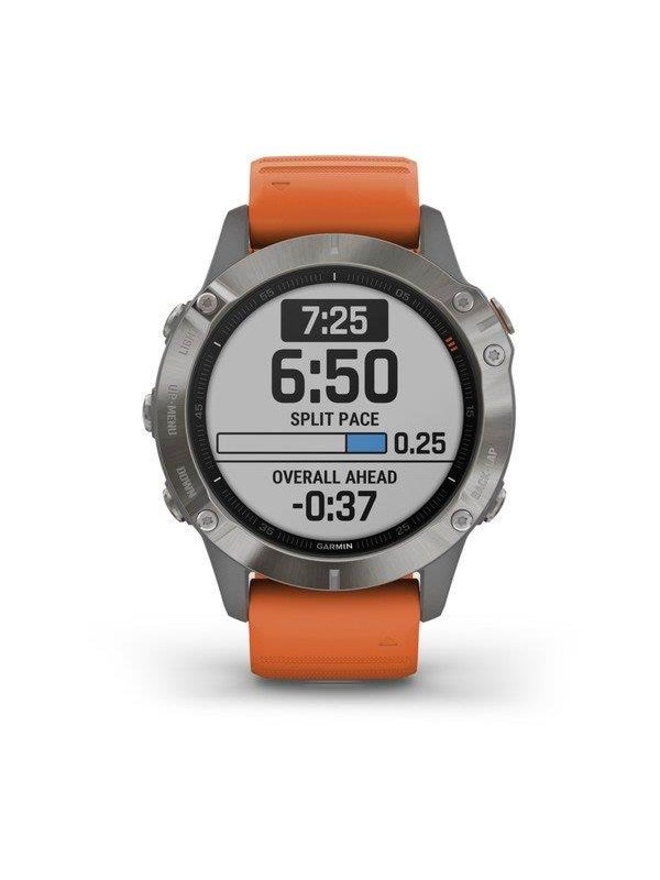 Image of   Garmin fenix 6 Pro Sapphire - Grey/orange