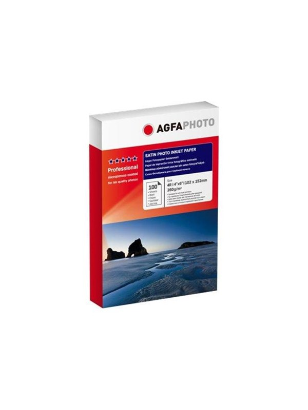 Image of   Agfa Photo - photo paper - 100 sheet(s) - 102 x 152 mm - 260 g/m²