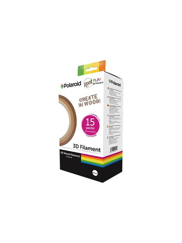 Image of   Polaroid - 15-pack - light dark mixture - wood filled filament