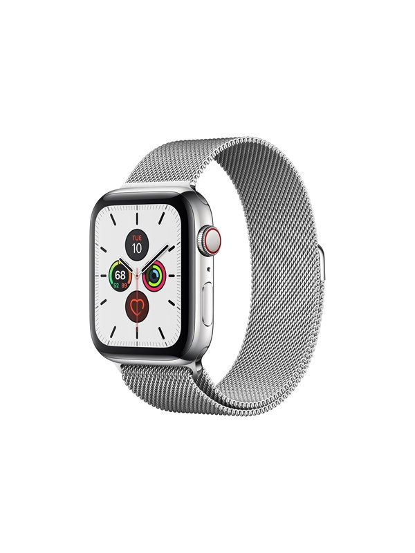 Image of   Apple Watch Series 5 (GPS + Cellular) 44mm Stainless Steel Case with Stainless Steel Milanese Loop