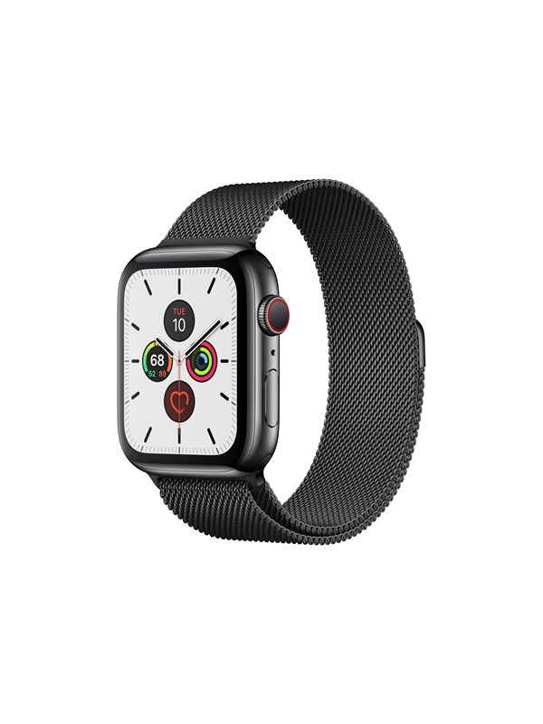Image of   Apple Watch Series 5 (GPS + Cellular) 44mm Space Black Stainless Steel Case with Space Black Milanese Loop