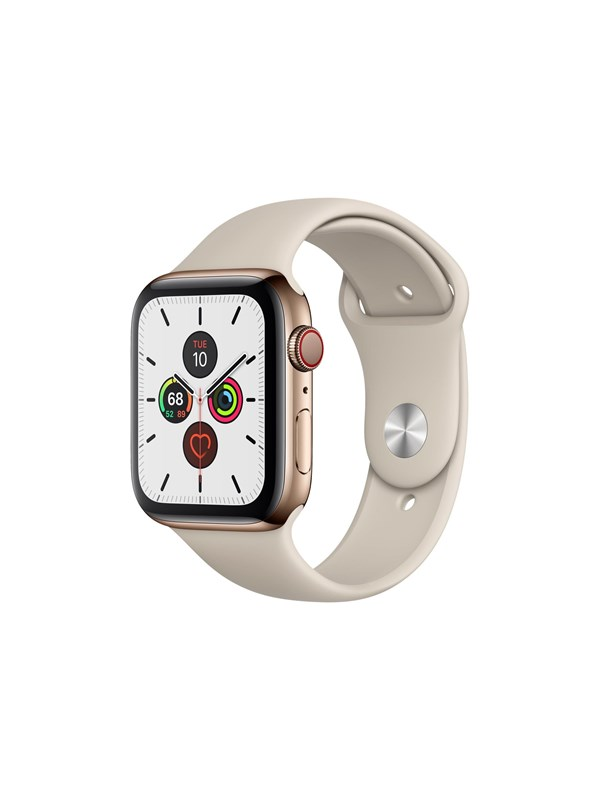 Image of   Apple Watch Series 5 (GPS + Cellular) 44mm Gold Stainless Steel Case with Stone Sport Band
