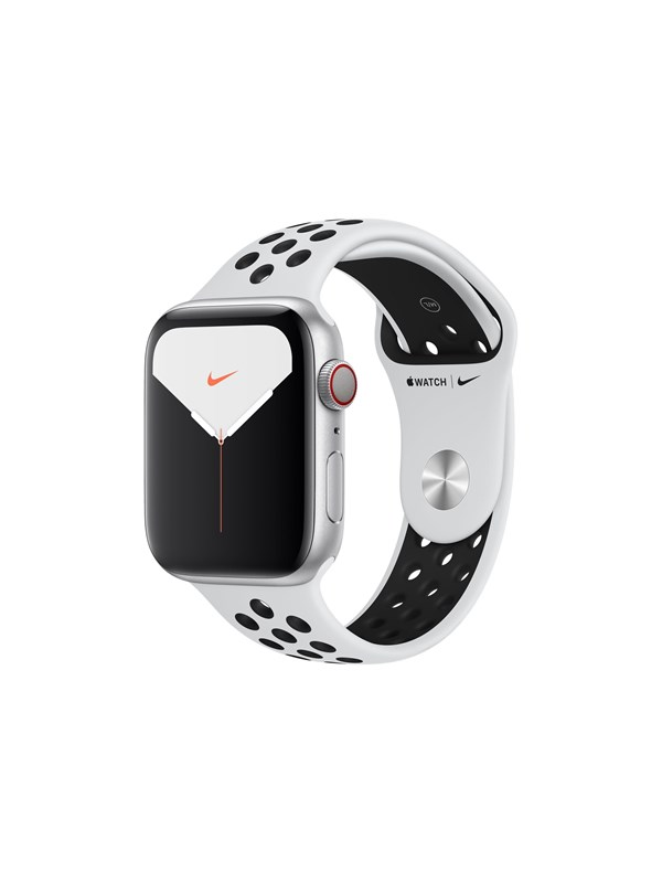 Image of   Apple Watch Nike Series 5 (GPS + Cellular) 44mm Silver Aluminium Case with Pure Platinum/Black Nike Sport Band