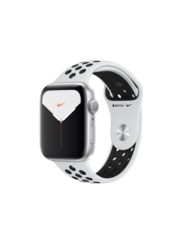 Image of   Apple Watch Nike Series 5 (GPS) 44mm Silver Aluminium Case with Pure Platinum/Black Nike Sport Band