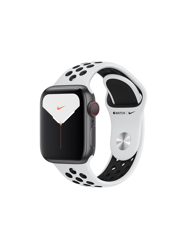 Image of   Apple Watch Nike Series 5 (GPS + Cellular) 40mm Silver Aluminium Case with Pure Platinum/Black Nike Sport Band