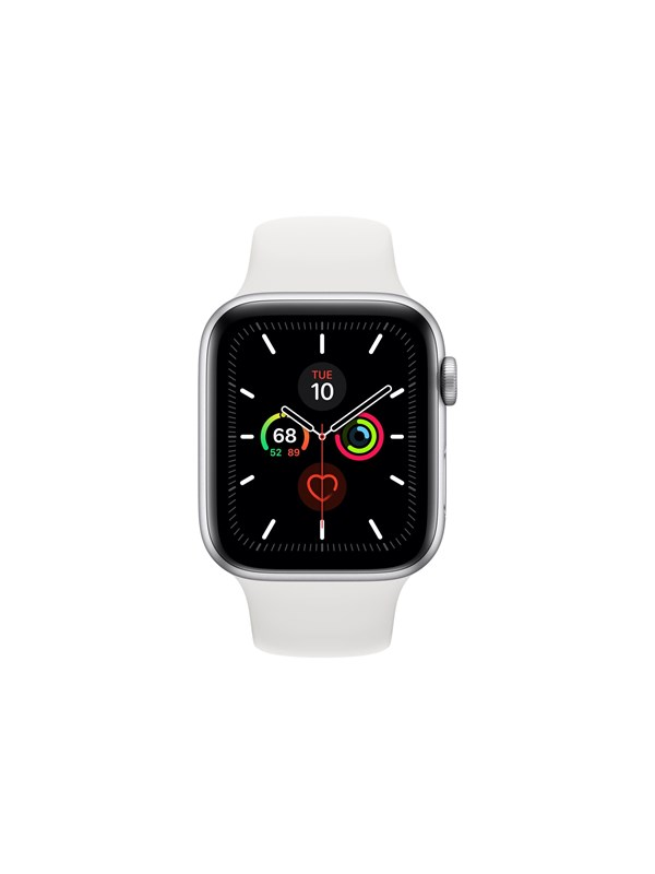 Image of   Apple Watch Series 5 (GPS) 40mm Silver Aluminium Case with White Sport Band