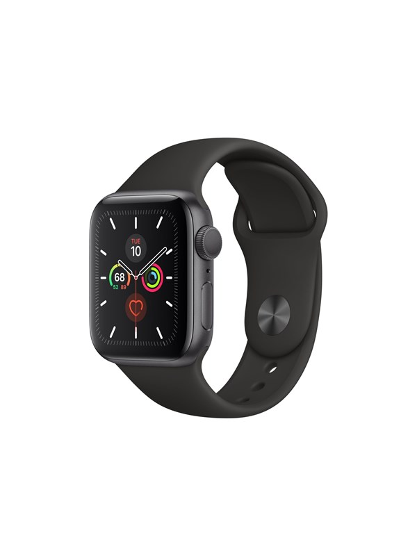 Image of   Apple Watch Series 5 (GPS) 40mm Space Gray Aluminum Case with Black Sport Band