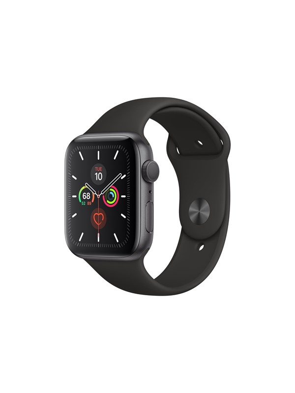 Image of   Apple Watch Series 5 (GPS) 44mm Space Gray Aluminum Case with Black Sport Band