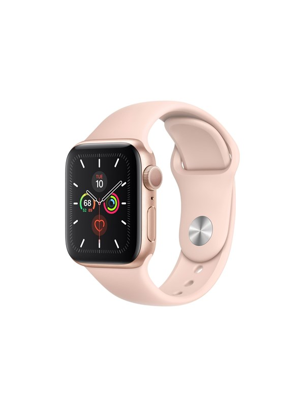 Image of   Apple Watch Series 5 (GPS + Cellular) 40mm Gold Aluminium Case with Pink Sand Sport Band