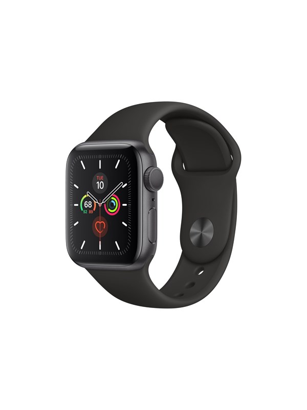 Image of   Apple Watch Series 5 (GPS + Cellular) 40mm Space Grey Aluminium Case with Black Sport Band