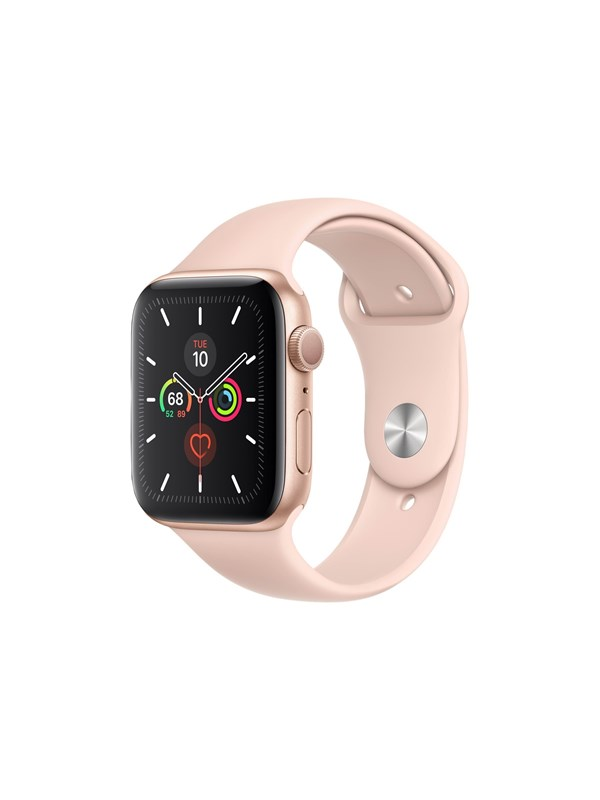 Image of   Apple Watch Series 5 (GPS + Cellular) 44mm Gold Aluminium Case with Pink Sand Sport Band