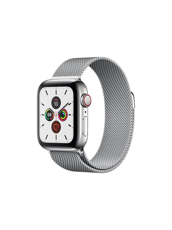 Image of   Apple Watch Series 5 (GPS + Cellular) 40mm Stainless Steel Case with Stainless Steel Milanese Loop