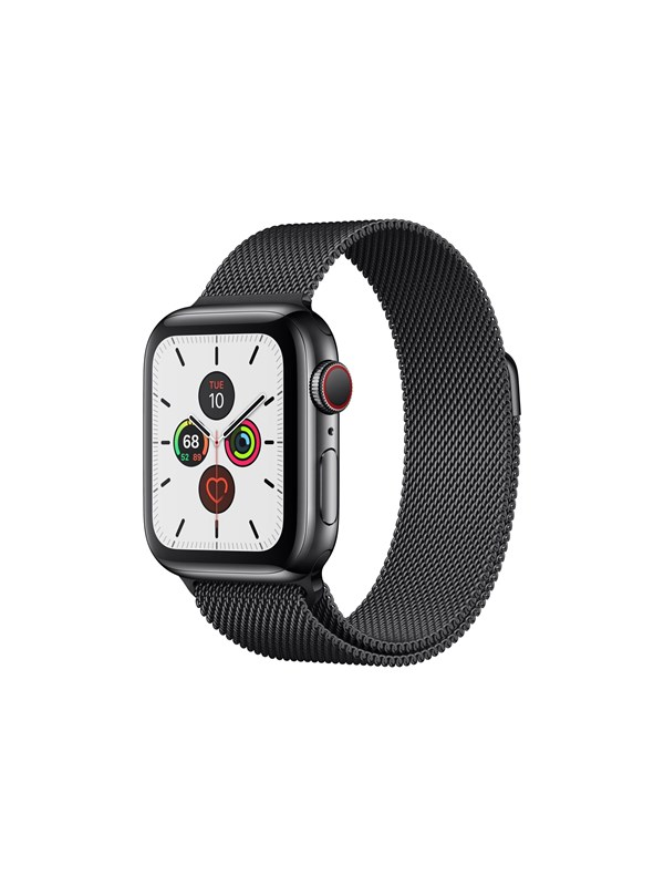 Image of   Apple Watch Series 5 (GPS + Cellular) 40mm Space Black Stainless Steel Case with Space Black Milanese Loop