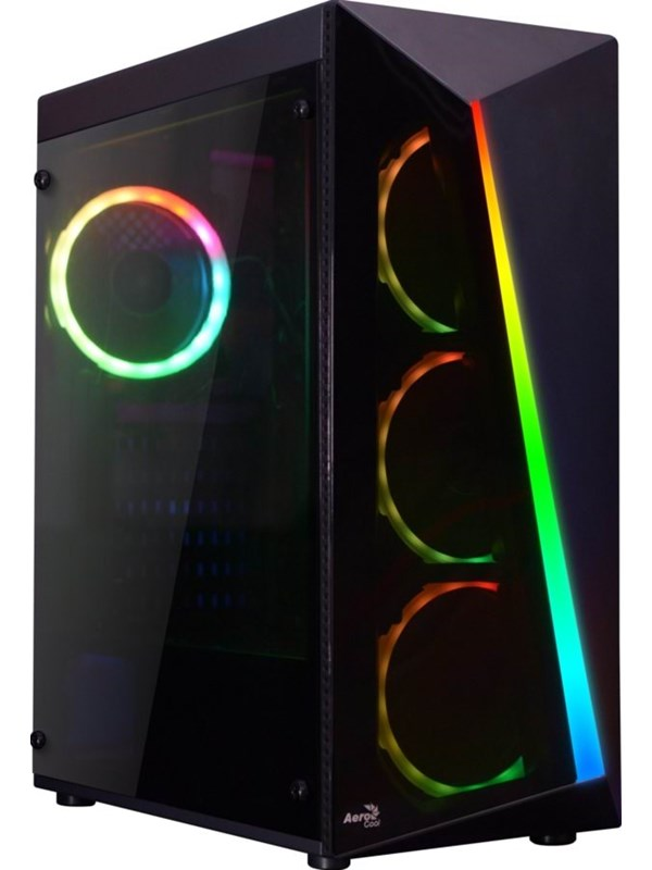 Image of   AeroCool Shard TG RGB - Kabinet - Miditower - Sort
