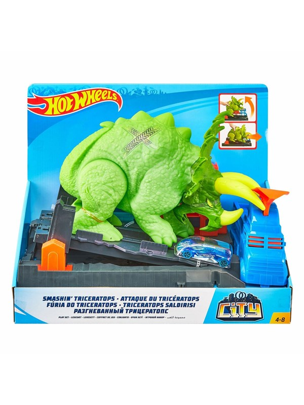 Image of   Hotwheels Hot Wheels City - Crushing Triceratops Playset