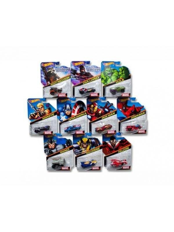 Image of   Hotwheels Hot Wheels Marvel Character Car Assorted Styles
