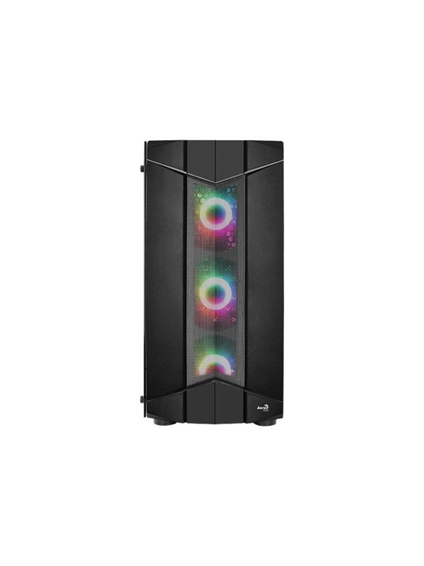 Image of   AeroCool Sentinel - Tempered Glass Edition - mid tower - ATX - Kabinet - Miditower - Sort