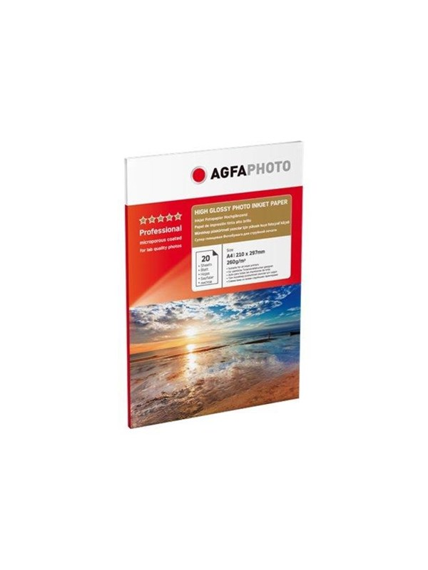Image of   Agfa Photo - photo paper - 20 sheet(s) - A4 - 260 g/m²