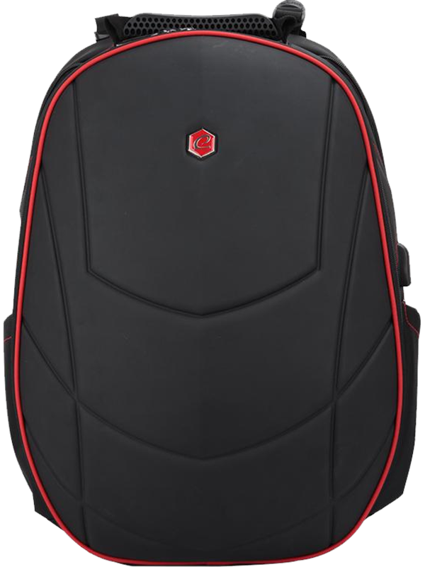 Image of   BESTLIFE 17'' Gaming Backpack Assailant Black/Red