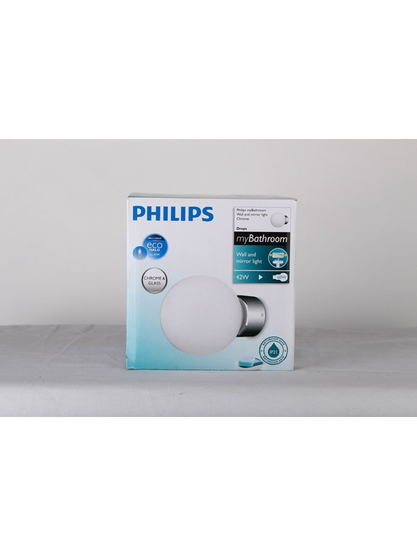 Image of   Philips Drops wall lamp chrome 1x42W 230V