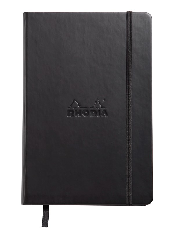 Image of   Clairefontaine RHODIA WEBNOTEBOOK A5 DOT BLACK notepad 192 pages