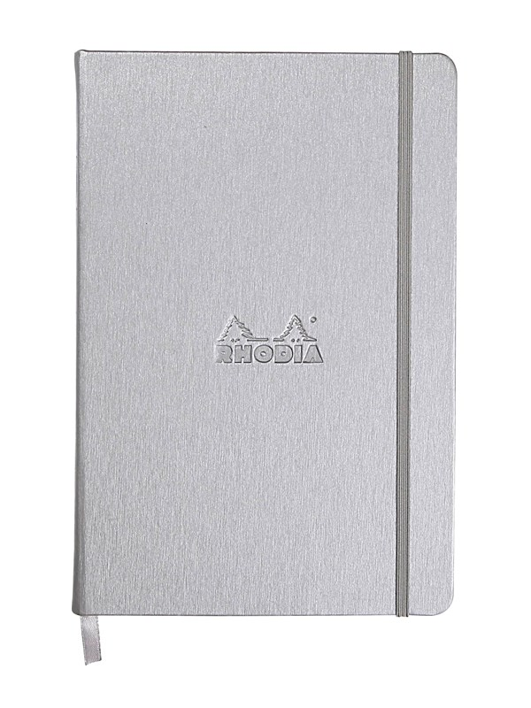 Image of   Clairefontaine RHODIA WEBNOTEBOOK A5 DOT SILVER notepad 192 pages