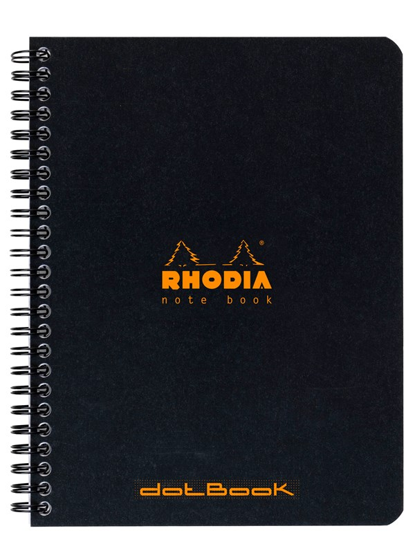 Image of   Clairefontaine RHODIA. NOTEBOOK WIRE O A5 DOT notepad 160 spages DOT