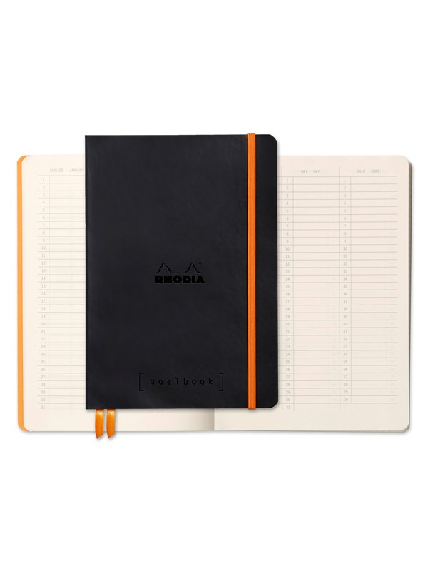 Image of   Clairefontaine RHODIA GOALBOOK BLACK A5 DOT notebook hardback