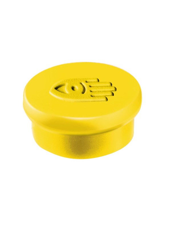 Image of   Legamaster MAGNET 10MM - 1810 box of 10 yellow magnets for Whiteboard