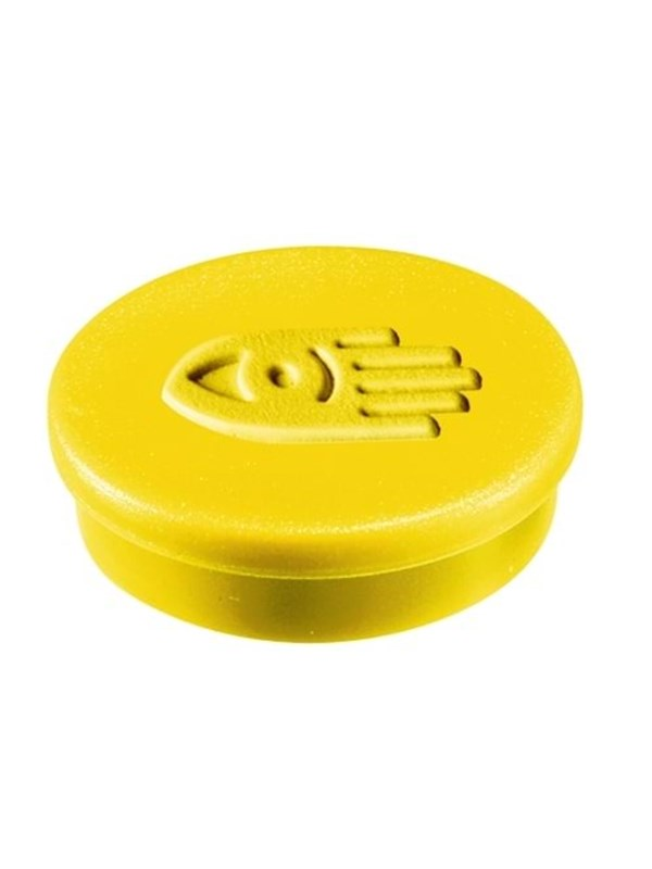 Image of   Legamaster MAGNET 20MM - 1811 box of 10 yellow magnets for Whiteboard