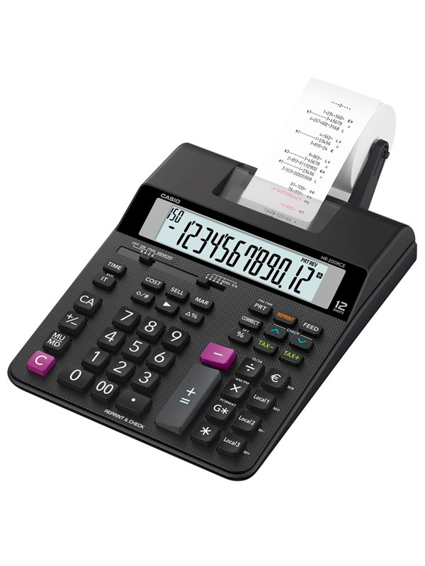 Image of   CASIO HR 200RCE printercalculator