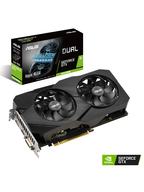 Image of   ASUS GeForce GTX 1660 SUPER DUAL Advanced EVO - 6GB GDDR6 RAM - Grafikkort