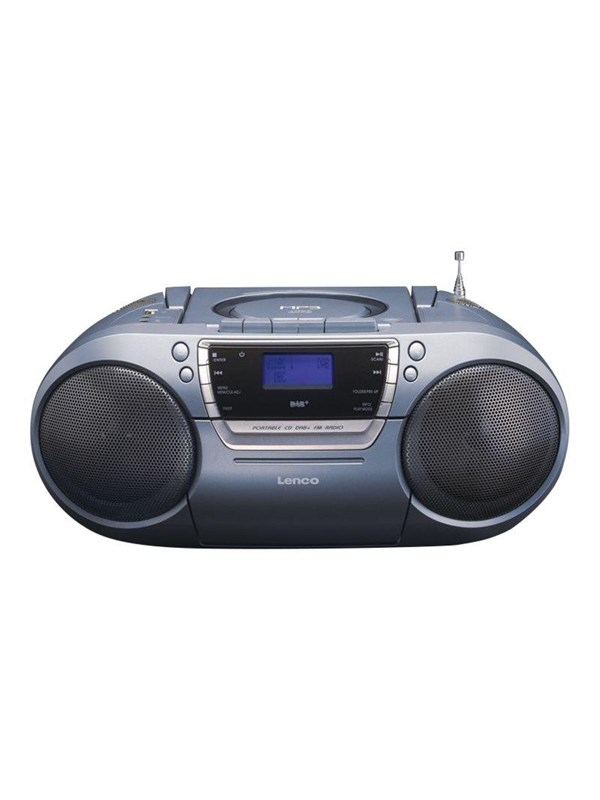 Image of   Lenco Bærbar radio SCD-680 DAB+ - boombox - CD USB-host Cassette - Stereo - Sort