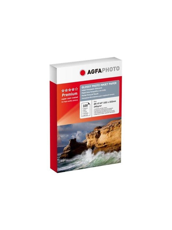 Image of   Agfa Photo - photo paper - 100 sheet(s) - 100 x 150 mm - 240 g/m²