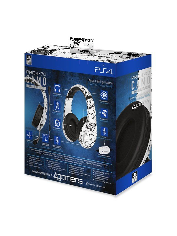 Billede af 4Gamers PRO70 PS4 Stereo Gaming Headset - Arctic Camo - Headset - Sony PlayStation 4