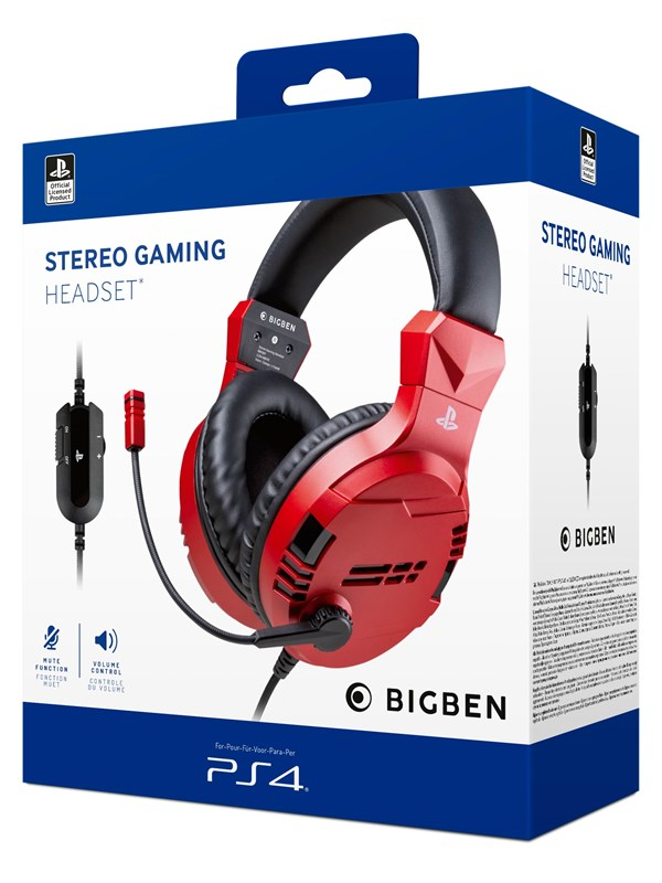 Billede af BigBen Interactive PS4/PS5 Gaming Headset V3 - Red - Headset - Sony Playstation 5