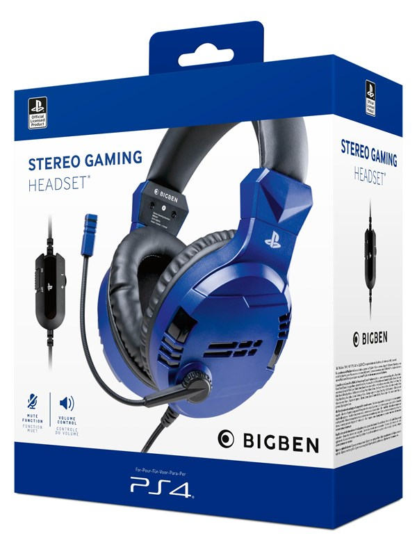 Billede af BigBen Interactive PS4/PS5 Gaming Headset V3 - Blue - Headset - Sony Playstation 5