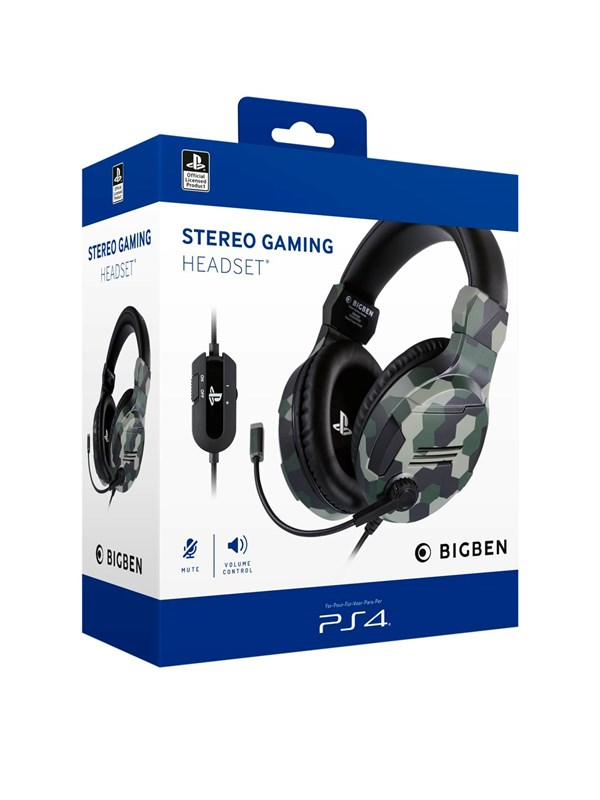 Billede af BigBen Interactive PS4/PS5 Gaming Headset V3 - Green - Headset - Sony Playstation 5