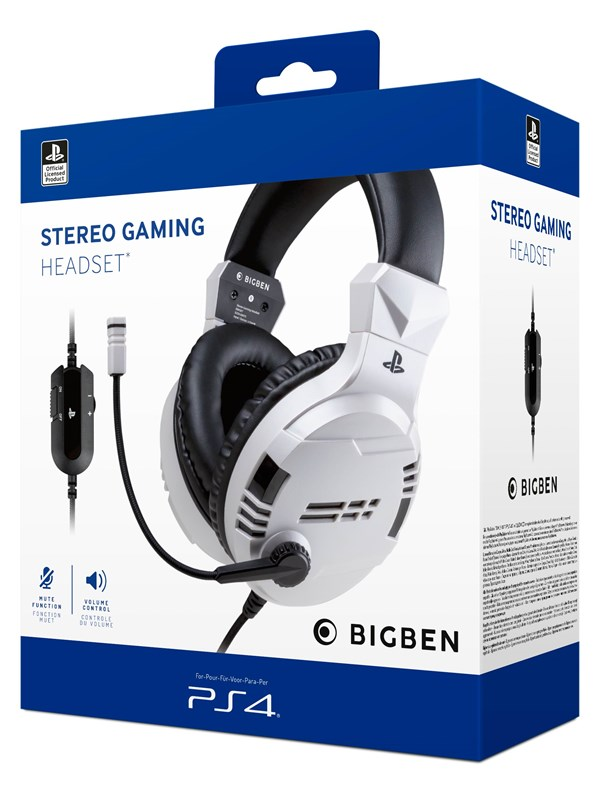 Billede af BigBen Interactive PS4/PS5 Gaming Headset V3 - White - Headset - Sony PlayStation 4