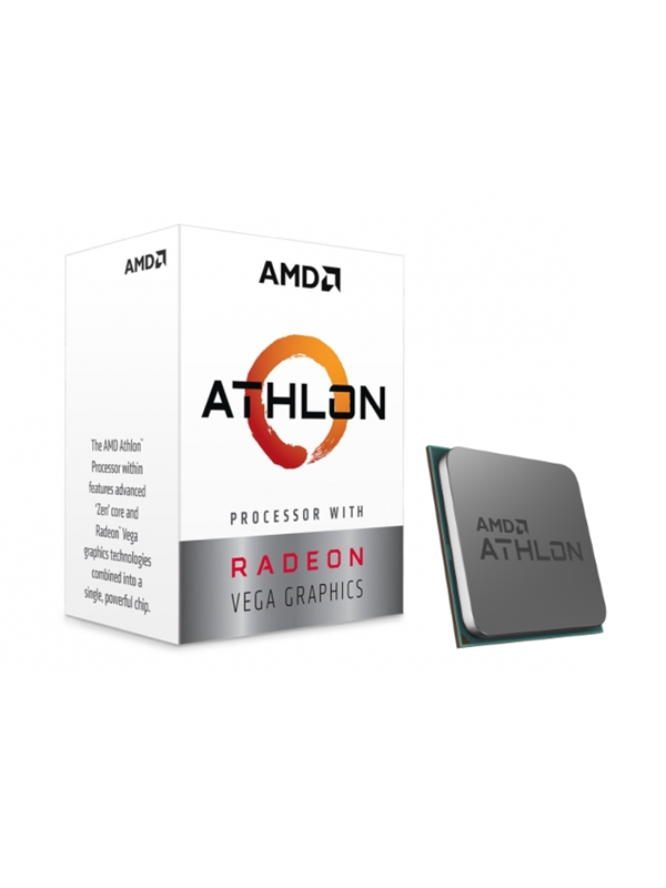 Image of   AMD Athlon 3000G CPU - 2 kerner 3.5 GHz - AMD AM4 - AMD Boxed (PIB - med køler)