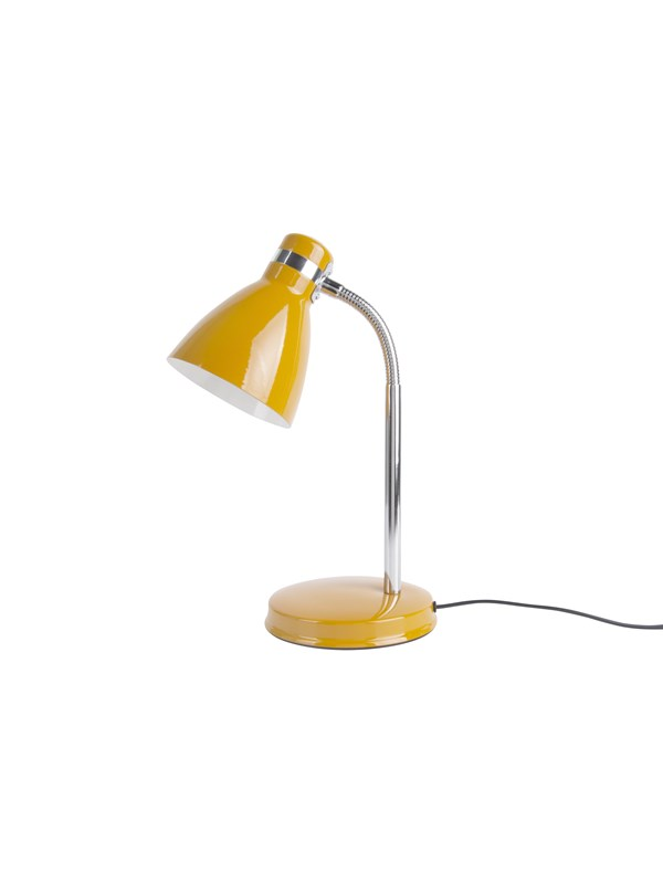 Image of   Columbine Table lamp Study metal ochre yellow