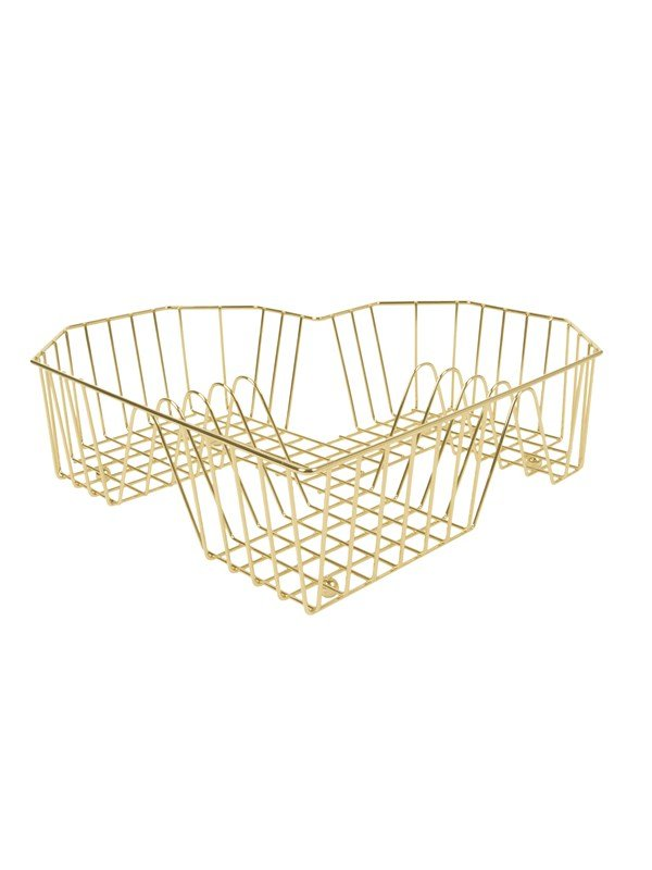 Image of   Columbine Dish rack Heart gold plated
