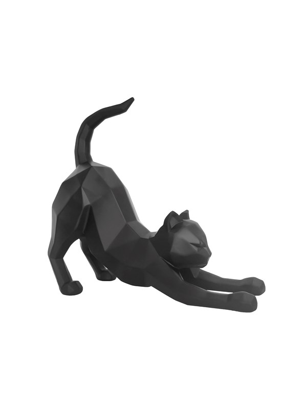 Image of   Columbine Statue Origami Cat stretching