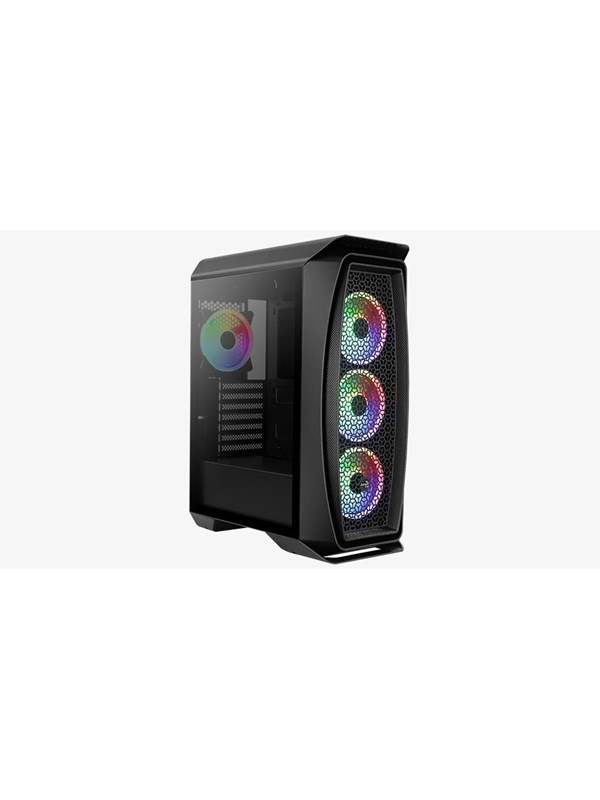 Image of   AeroCool Aero One Duo - Black - Kabinet - Miditower - Sort