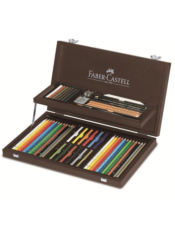 Image of   Faber Castell Faber-Castell - Art & Graphic COMPENDIUM wood case