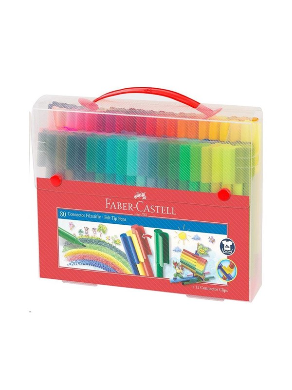 Image of   Faber Castell Faber-Castell - ?Connector Pens Carry case 80 pc