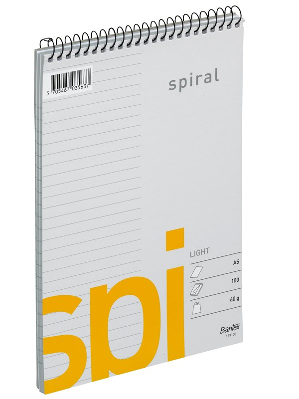 Image of   Bantex Light Spi Spiralblok A5 Linjeret